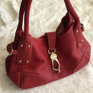 Genuine leather Dooney and Bourke purse